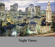 Boston Skylines: Night